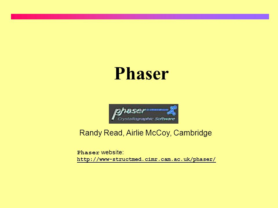 Phaser Randy Read, Airlie McCoy, Cambridge Phaser website:
