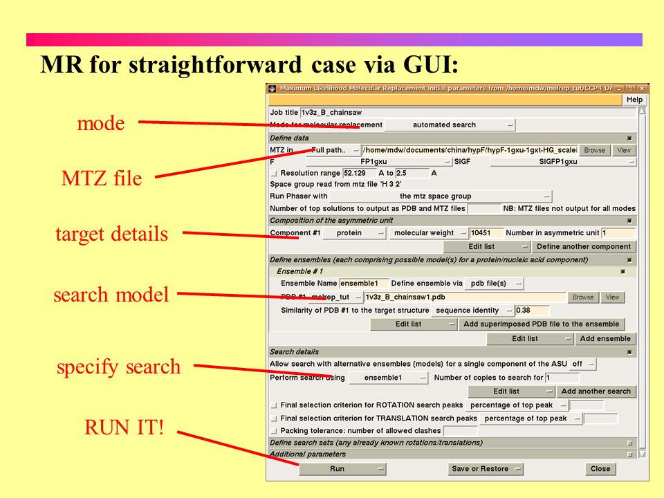 MR for straightforward case via GUI: