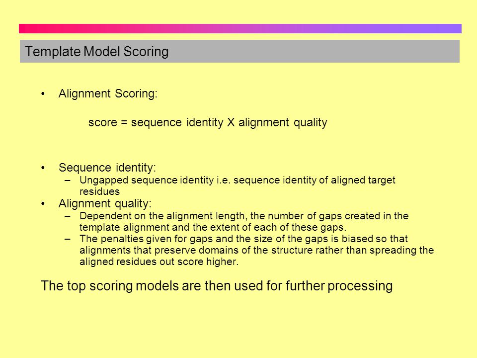 Template Model Scoring