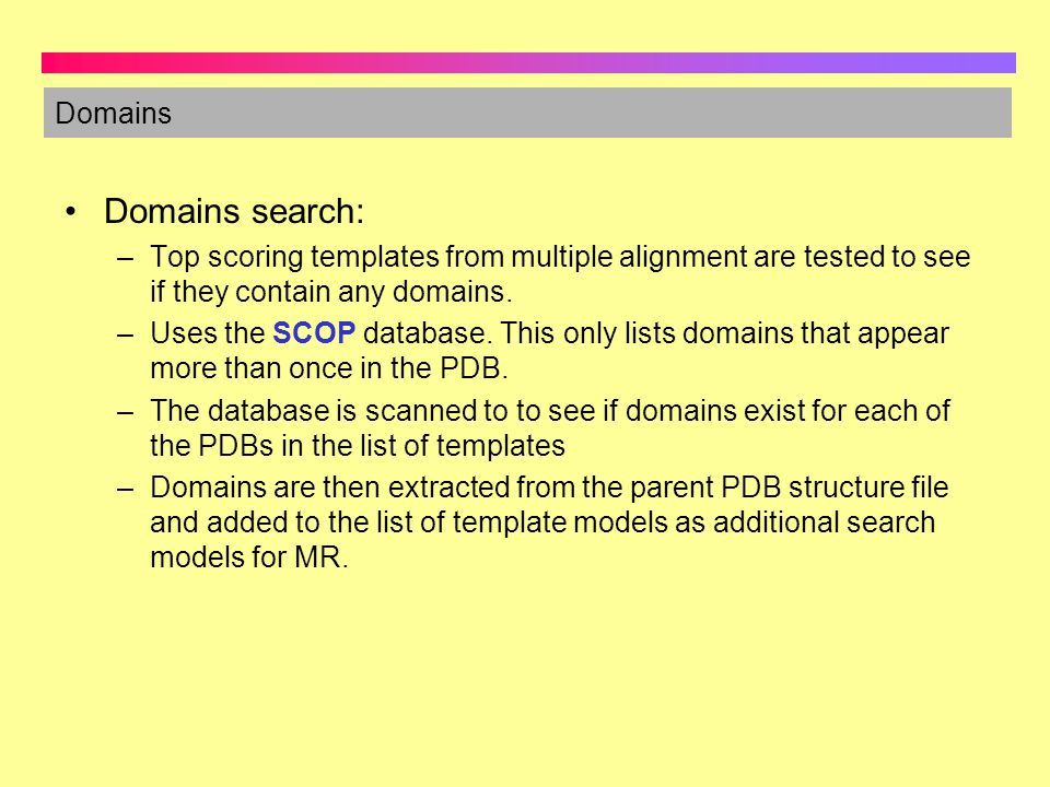 Domains search: Domains