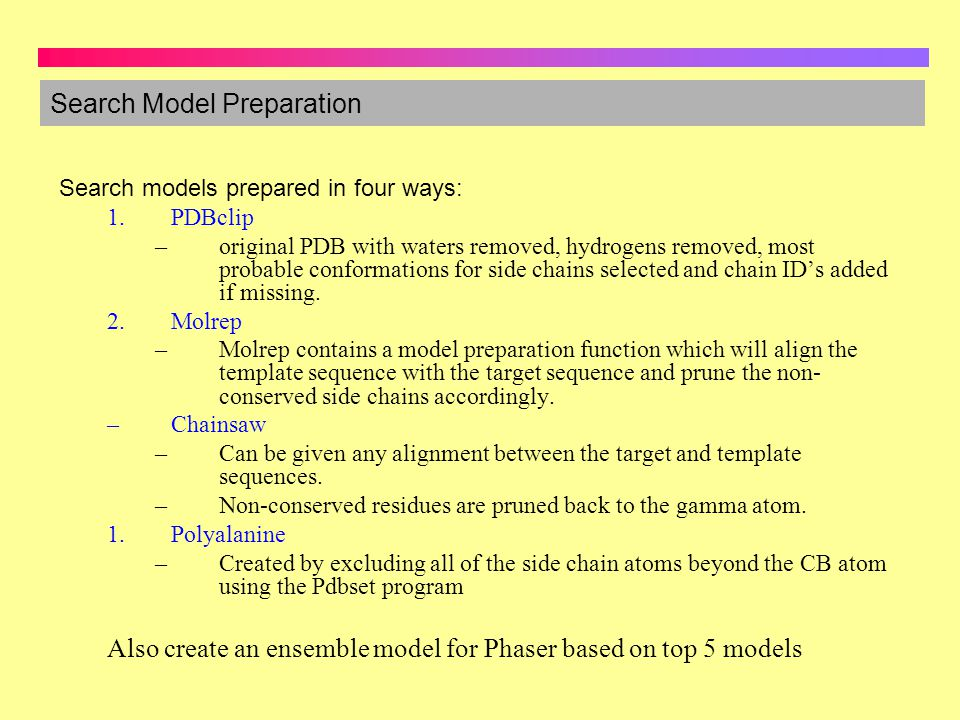 Search Model Preparation