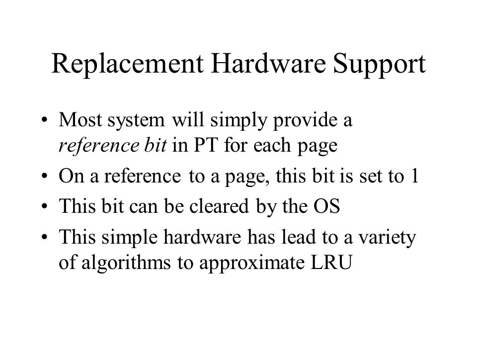 Replacement Hardware Support