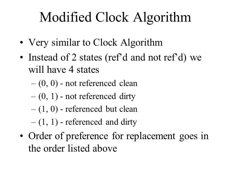 Modified Clock Algorithm