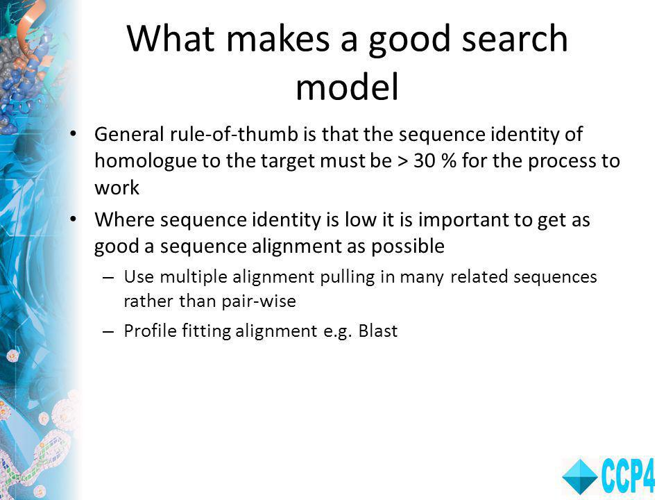What makes a good search model