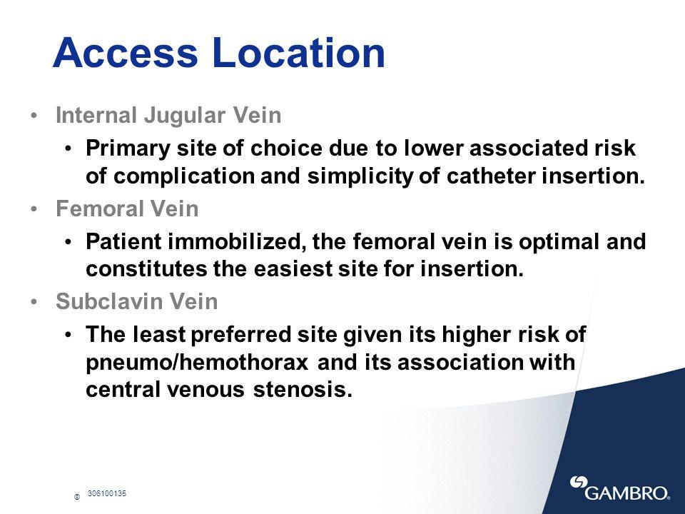 Access Location Internal Jugular Vein
