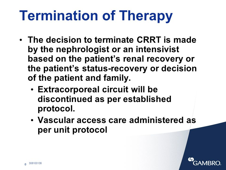 Termination of Therapy