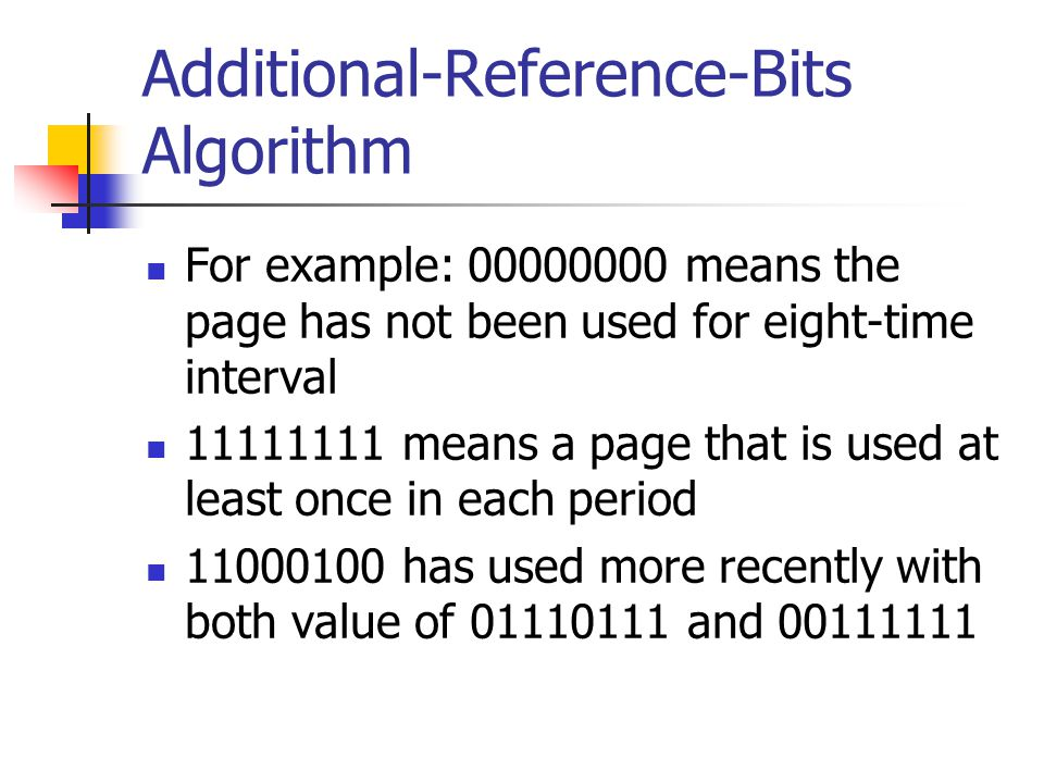 Additional-Reference-Bits Algorithm