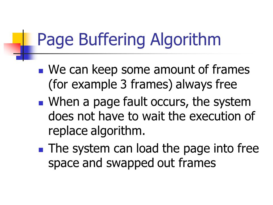 Page Buffering Algorithm