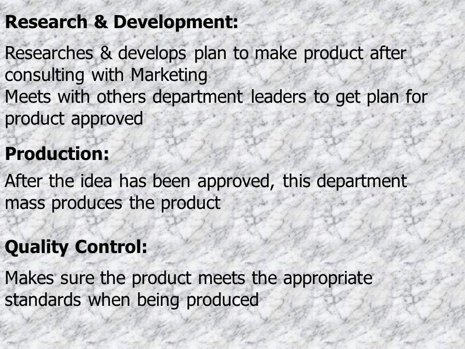 Research & Development: