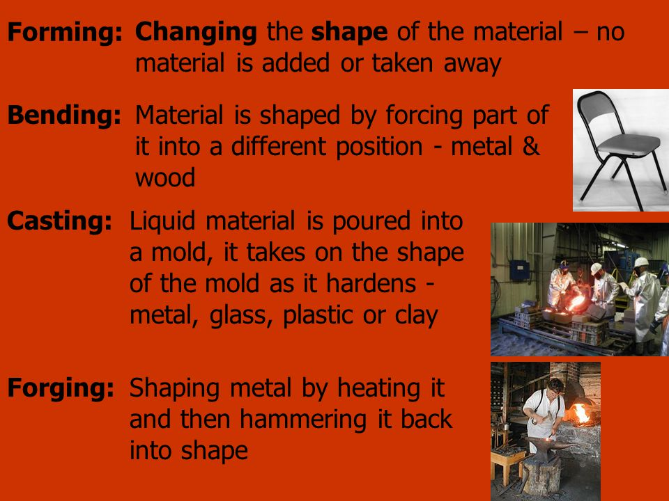 Shaping metal by heating it and then hammering it back into shape