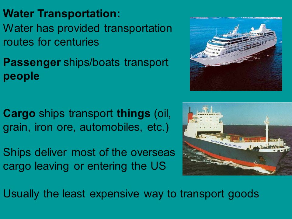 Water Transportation: