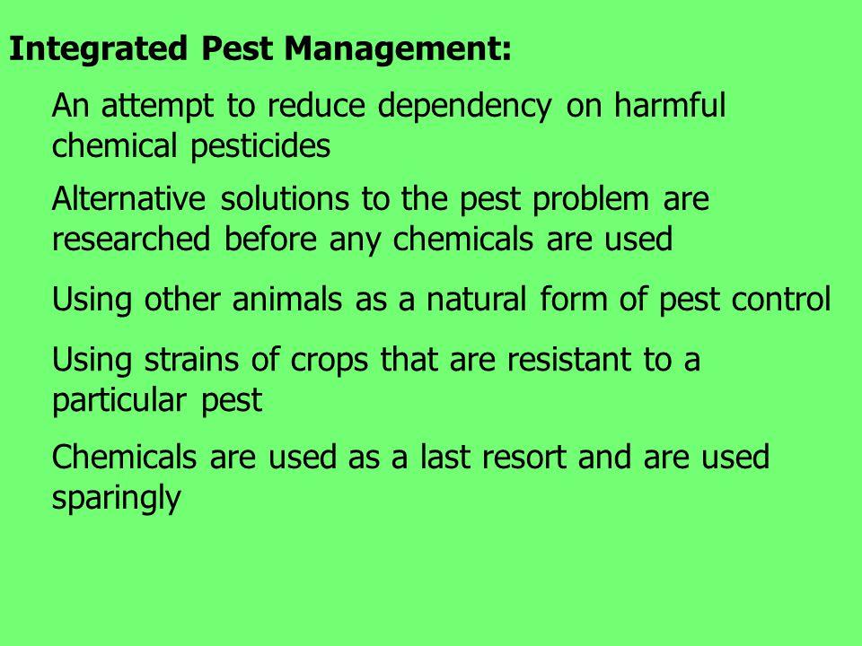 Integrated Pest Management: