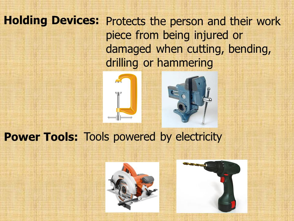 Tools powered by electricity