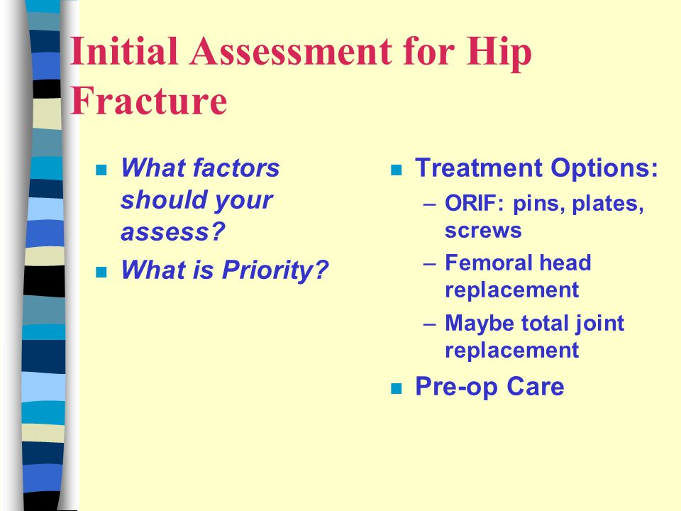 Initial Assessment for Hip Fracture