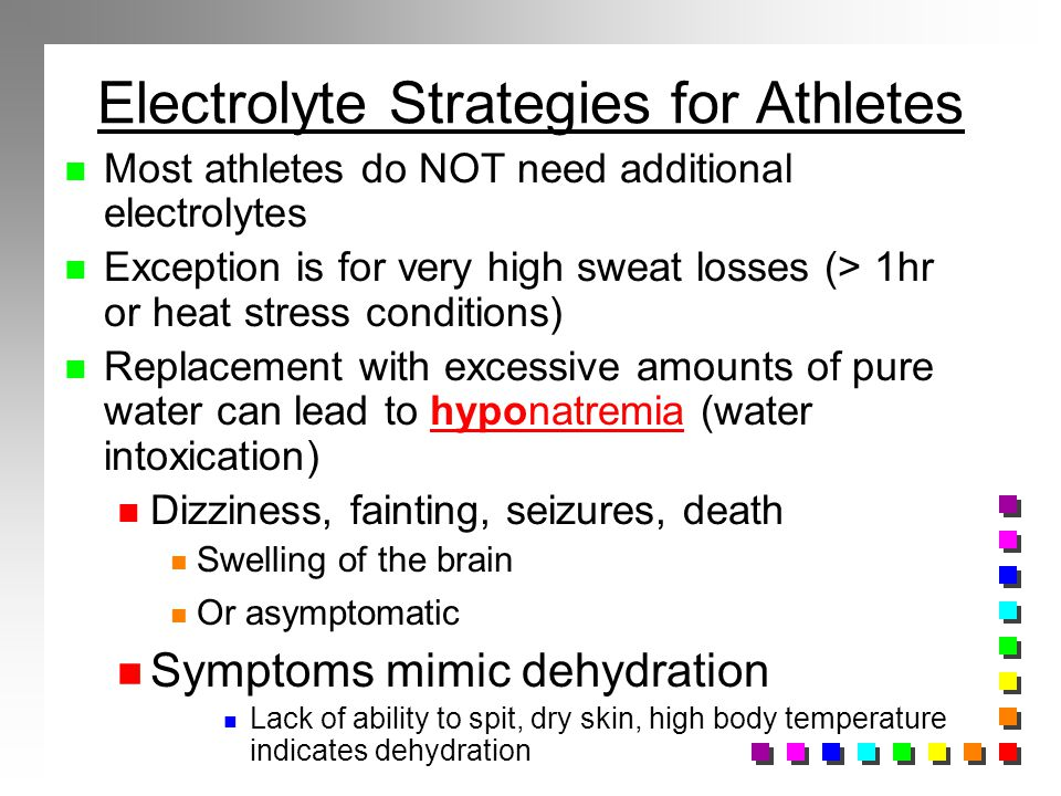 Electrolyte Strategies for Athletes
