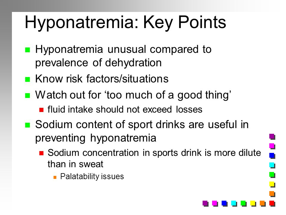 Hyponatremia: Key Points