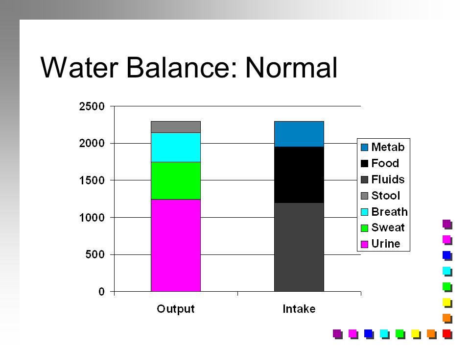 Water Balance: Normal