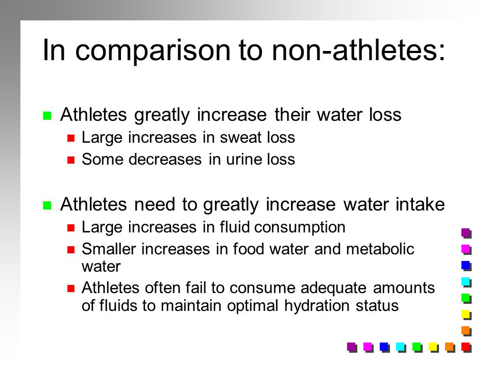 In comparison to non-athletes: