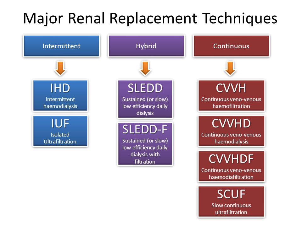 Major Renal Replacement Techniques