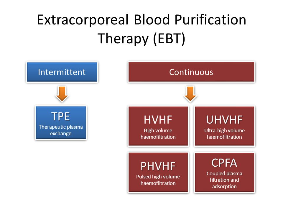 Extracorporeal Blood Purification Therapy (EBT)