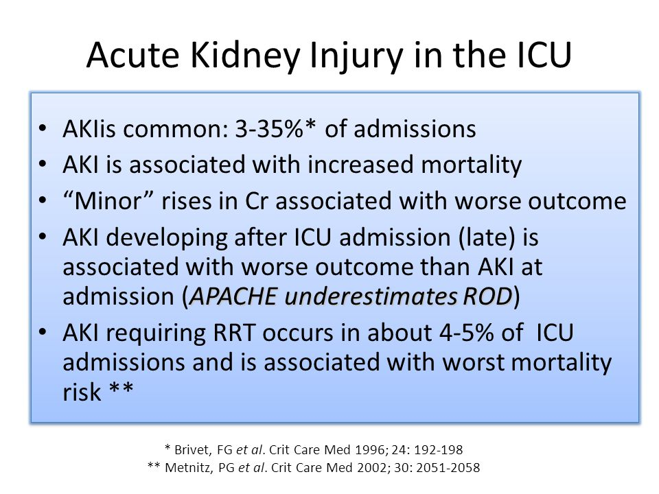 Acute Kidney Injury in the ICU