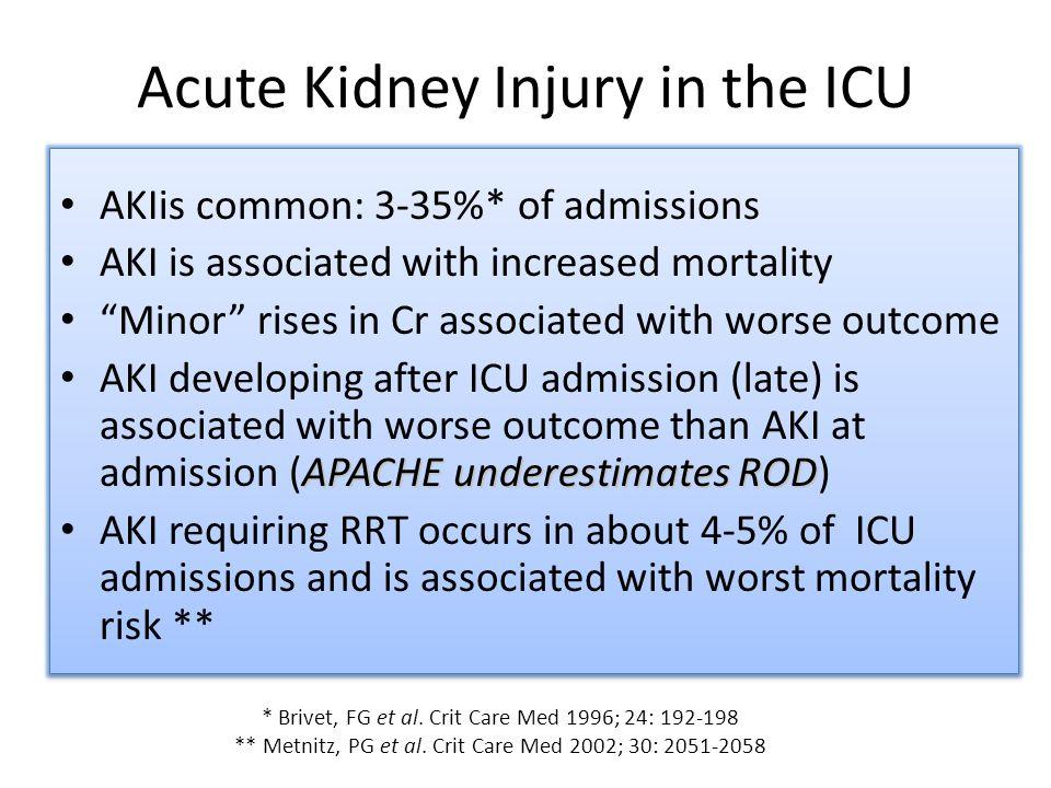 Acute Kidney Injury in the ICU