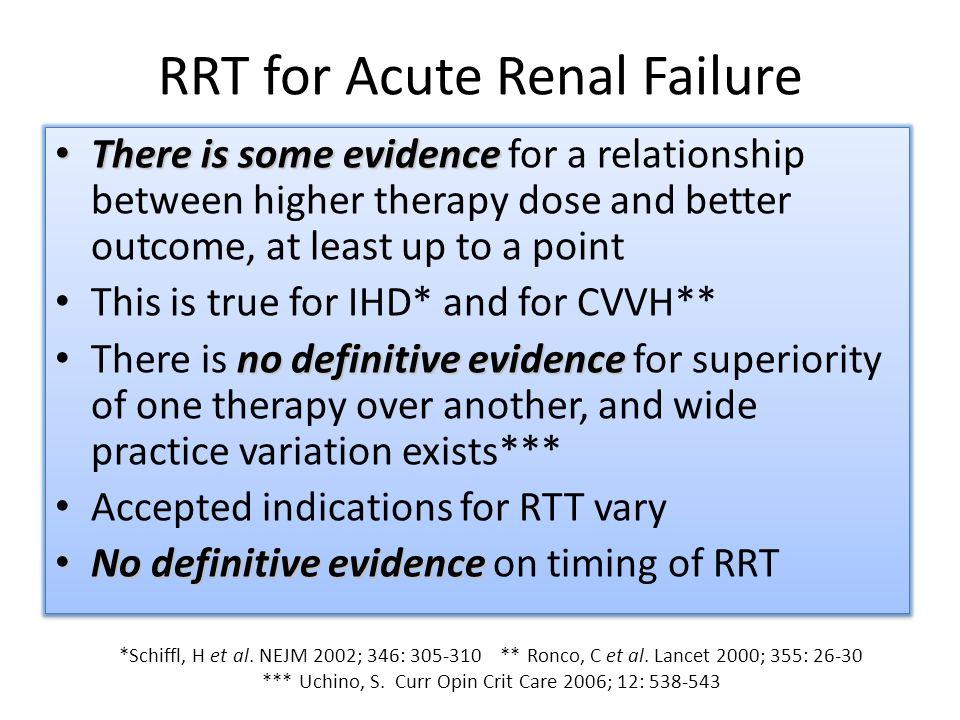 RRT for Acute Renal Failure