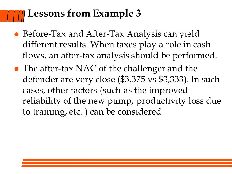 Lessons from Example 3