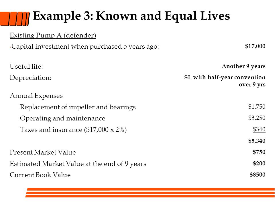 Example 3: Known and Equal Lives