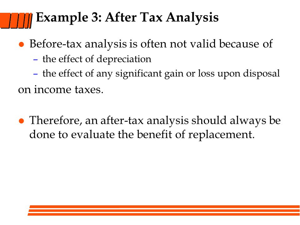 Example 3: After Tax Analysis