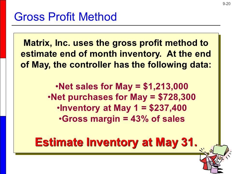Estimate Inventory at May 31.