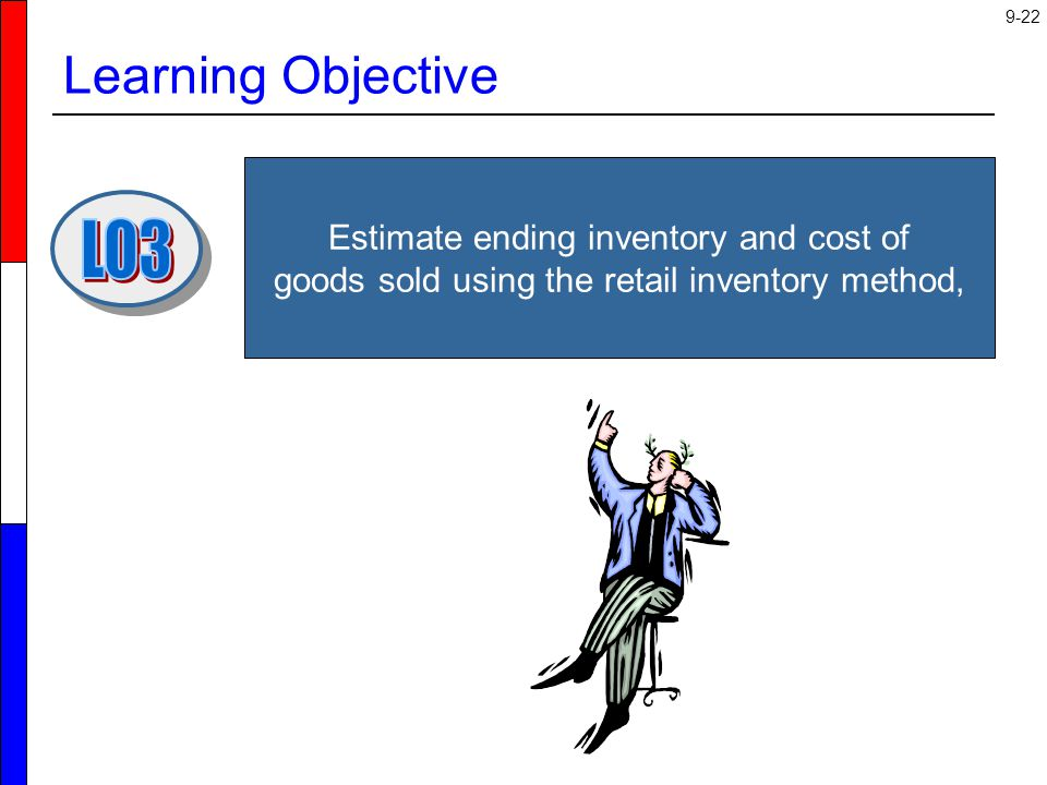 Learning Objective Estimate ending inventory and cost of goods sold using the retail inventory method,