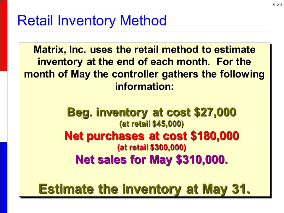 Retail Inventory Method