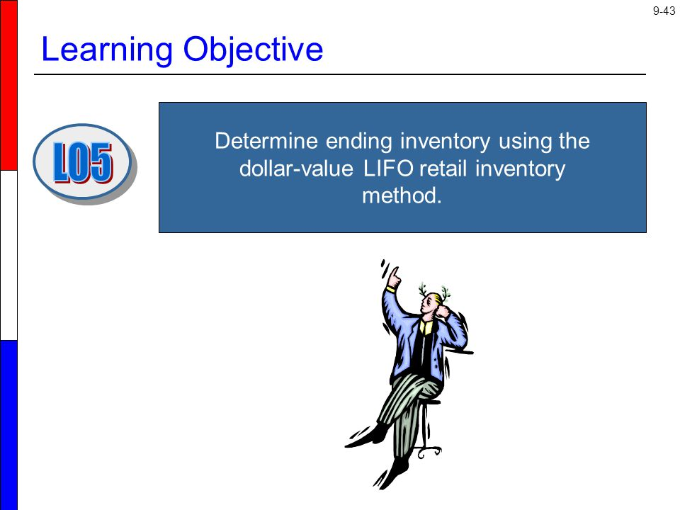 Learning Objective Determine ending inventory using the dollar-value LIFO retail inventory method. LO5.