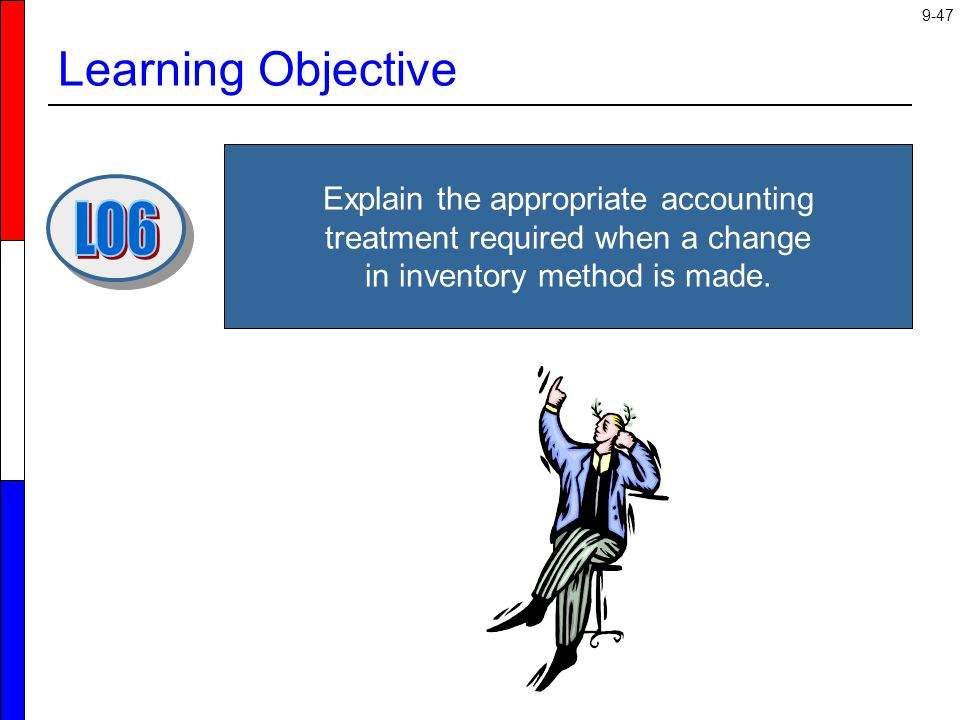 Learning Objective Explain the appropriate accounting treatment required when a change in inventory method is made.