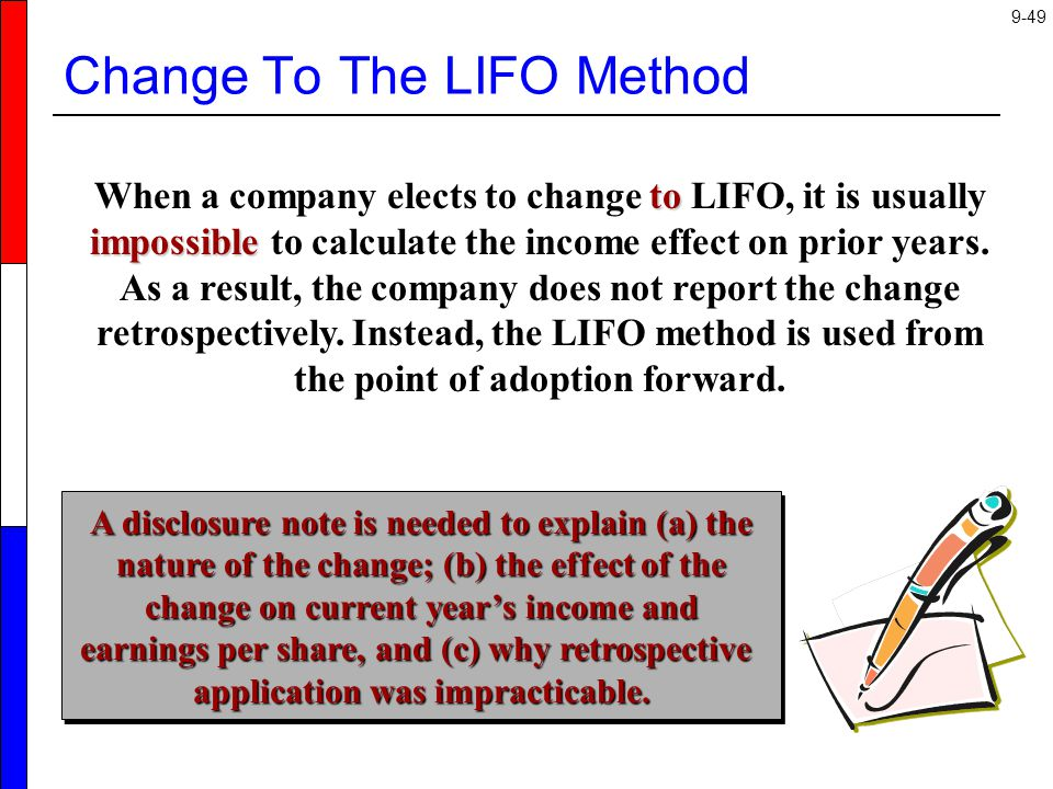 Change To The LIFO Method