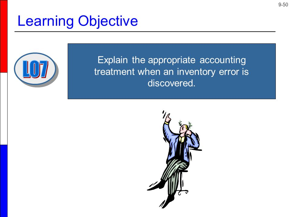 Learning Objective Explain the appropriate accounting treatment when an inventory error is discovered.