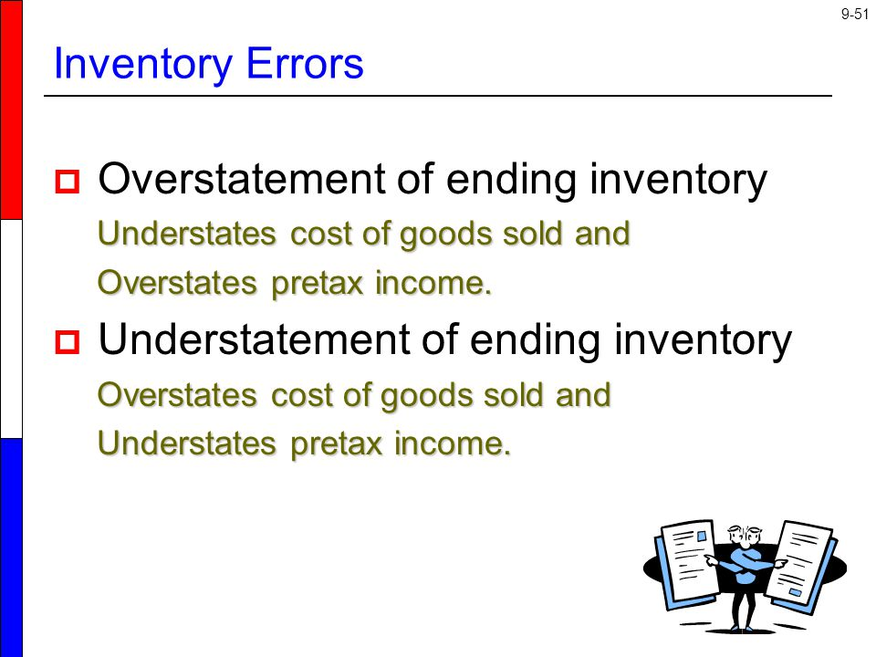 Overstatement of ending inventory