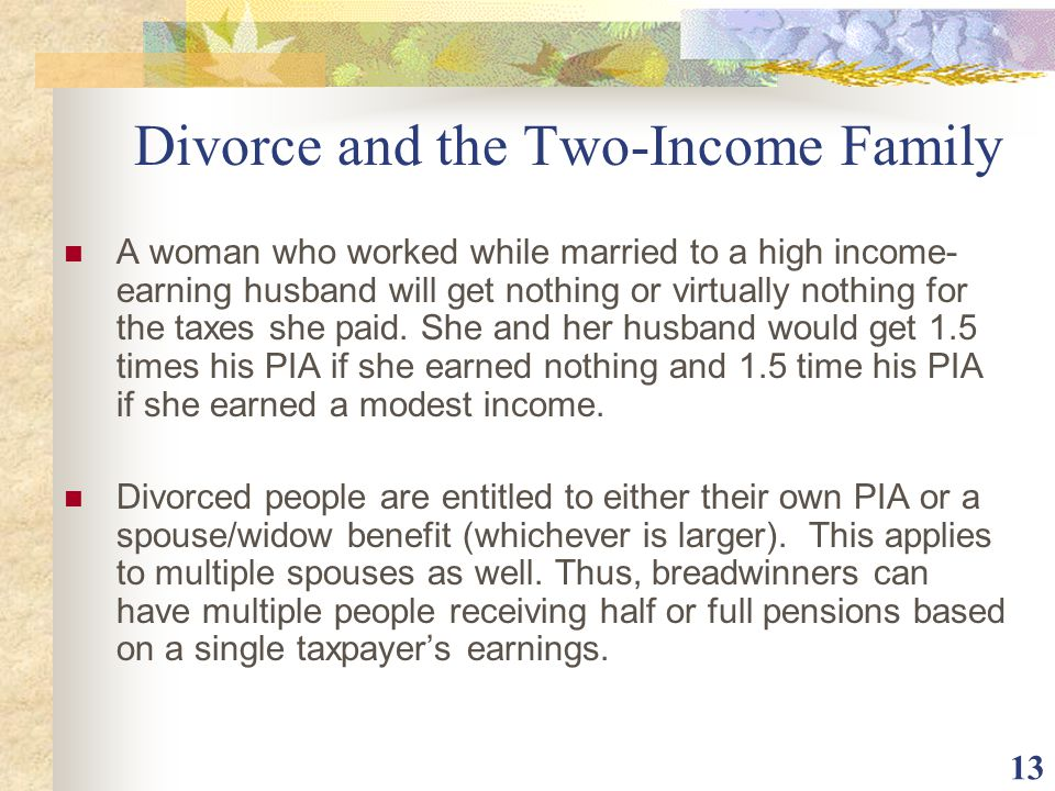 Divorce and the Two-Income Family
