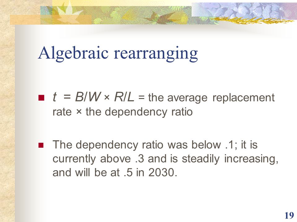 Algebraic rearranging