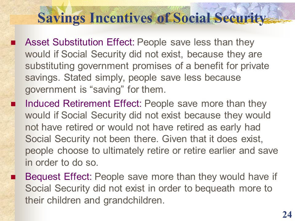 Savings Incentives of Social Security
