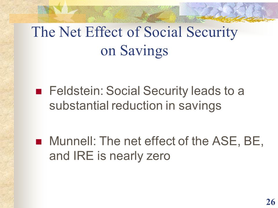 The Net Effect of Social Security on Savings