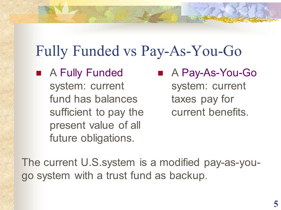 Fully Funded vs Pay-As-You-Go