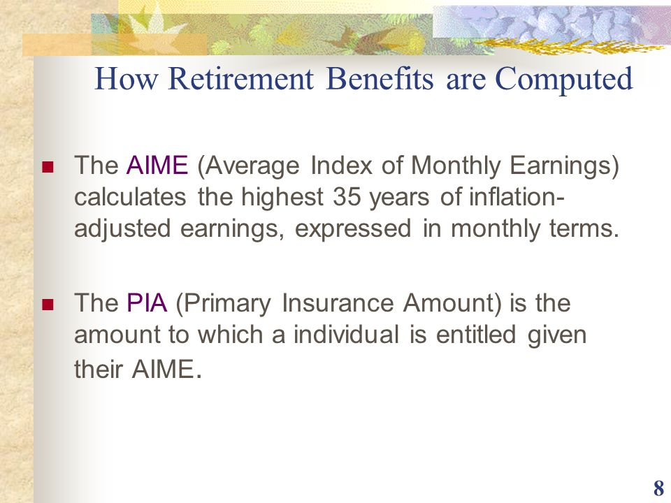 How Retirement Benefits are Computed