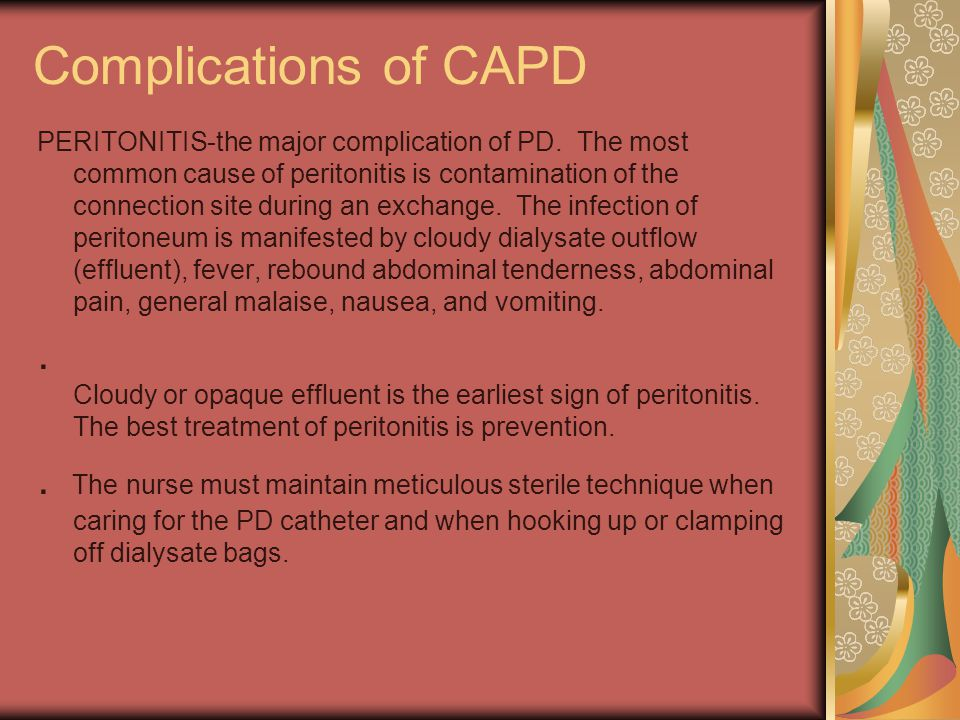 Complications of CAPD