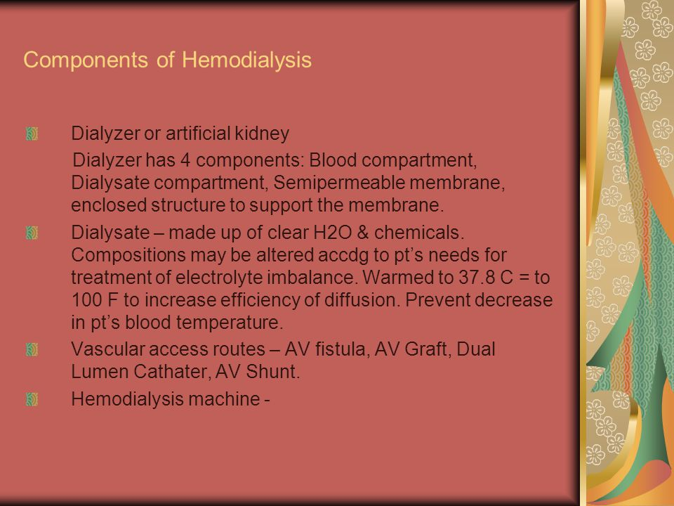 Components of Hemodialysis