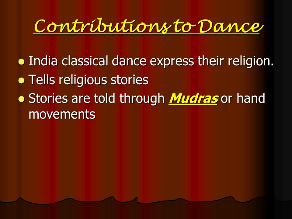 Contributions to Dance