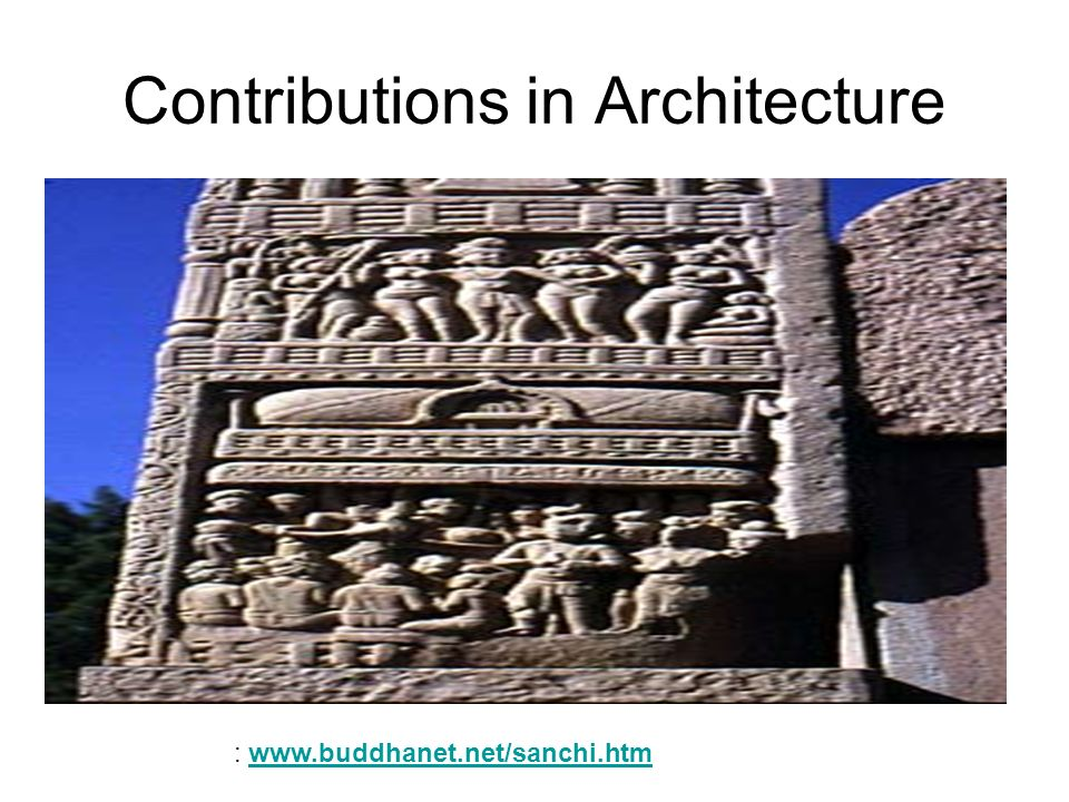 Contributions in Architecture