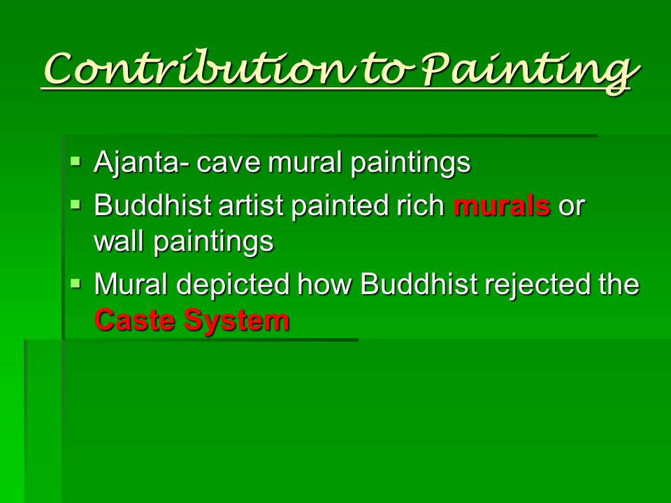 Contribution to Painting