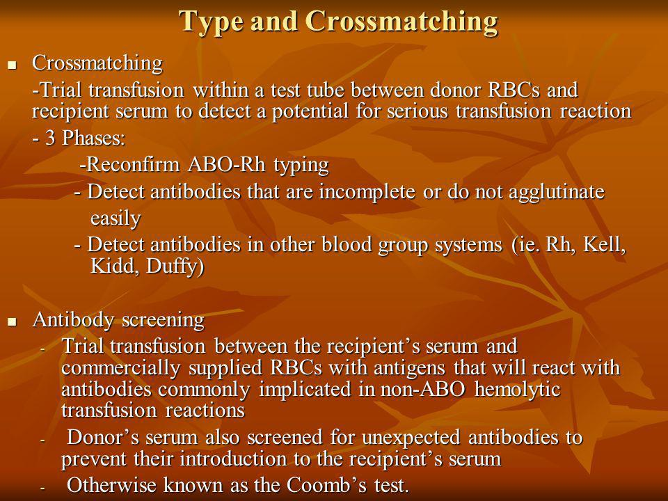 Type and Crossmatching